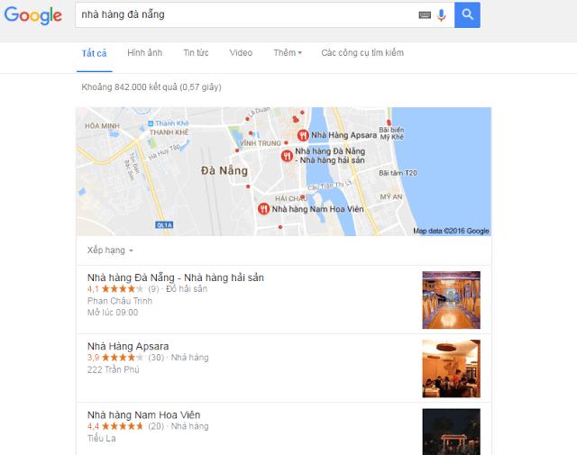 hotel trên google map