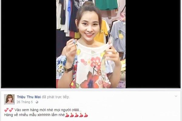 livestream bán hàng quần áo trên facebook